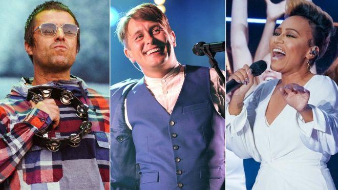Liam Gallagher, Mark Owen and Emeli Sande