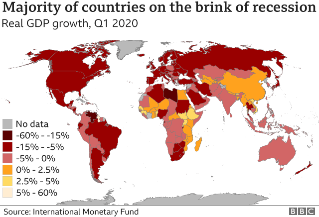 IMF recession map