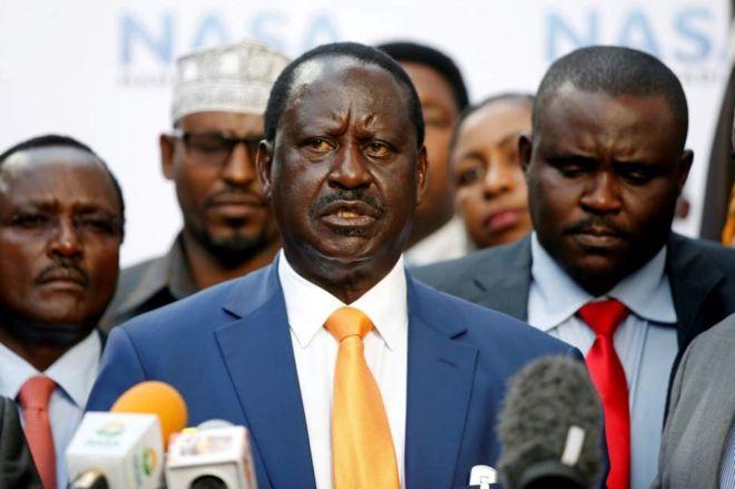 Raila Odinga iyo xubnaha kale ee NASA