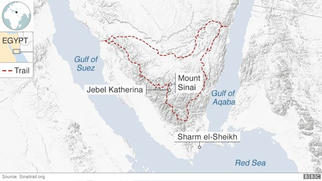 In pictures: Hiking the Sinai Trail - BBC News