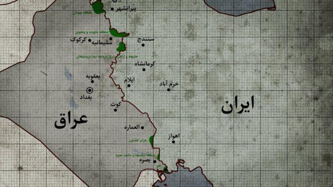 مناطقی از عراق که در طول جنگ به تصرف ایران درآمد