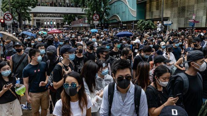 Resultado de imagen para libertad de expresión de manifestantes en Hong Kong