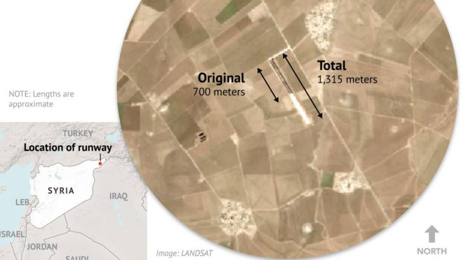 Syria conflict US expanding air strip in Kurdish north BBC News
