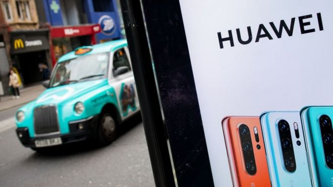Huawei ad in London