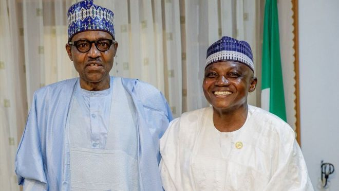 President Buhari and Garba Shehu