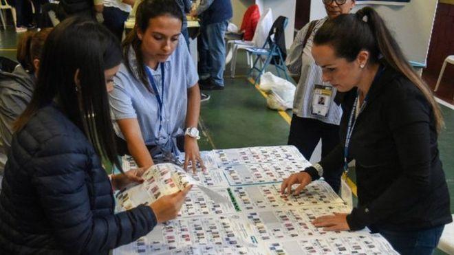 Votantes en Guatemala.