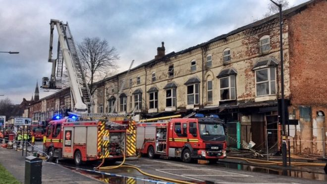 Fire breaks out in shops and flats on Stratford Road