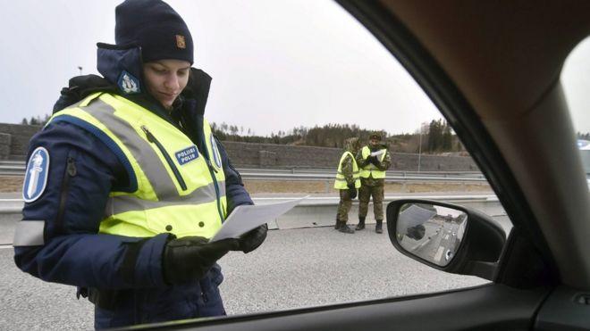 Policía en Finlandia