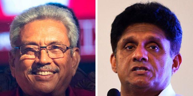 Sri Lanka presidential candidates Gotabhaya Rajapaksa and Sajith Premadasa, November 2019