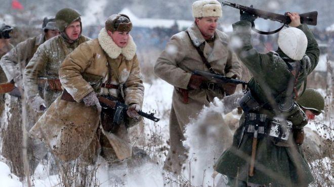 Representación de la liberación de la antigua Leningrado.