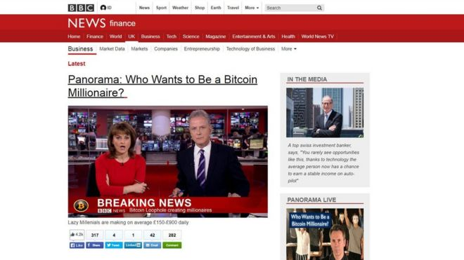 Fake BBC News page used to promote Bitcoin-themed scheme - BBC News