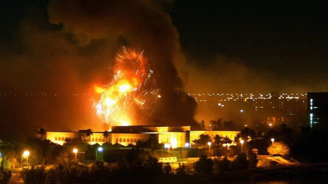 Bombardeio em Bagdá