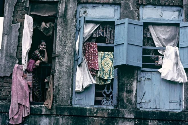 CIRCA 1900: Bombay, India - House prostitutes.