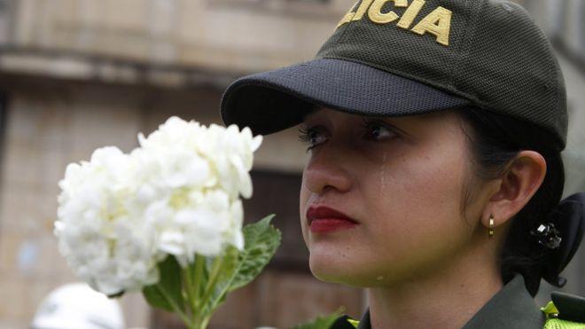 Protesta contra el terrorismo en Medellín.
