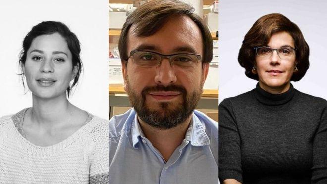 Marina Escalera-Zamudio, Javier Jaimes e Irene Bosch