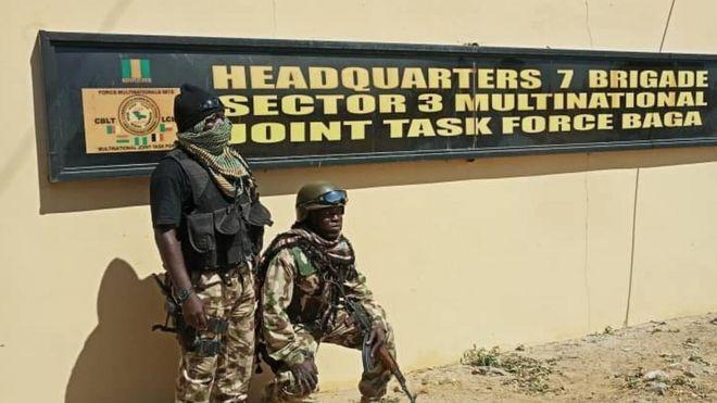 Sojojin Najeriya 'sun fatattaki' Boko Haram daga Baga - BBC News Hausa
