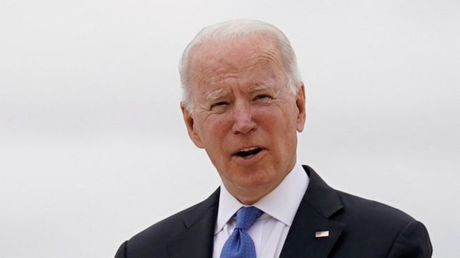 Joe Biden at G7 meeting in Corwall, 11 June