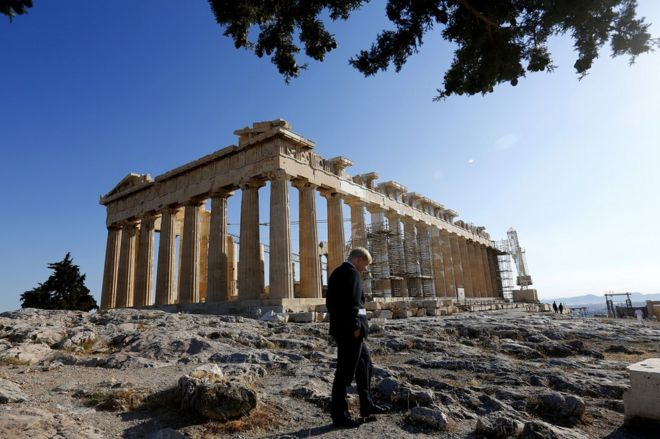 Boris Johnson at the Parthenon in