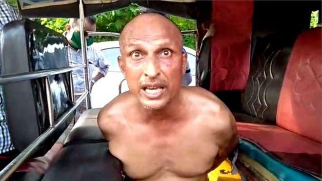 Dr Sudhakar Rao in an auto rickshaw