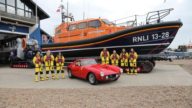 Hastings Lifeboat Funded By Ferrari Sale Launched Bbc News