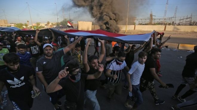 Iraq protests: Death toll soars after four days of protests thumbnail