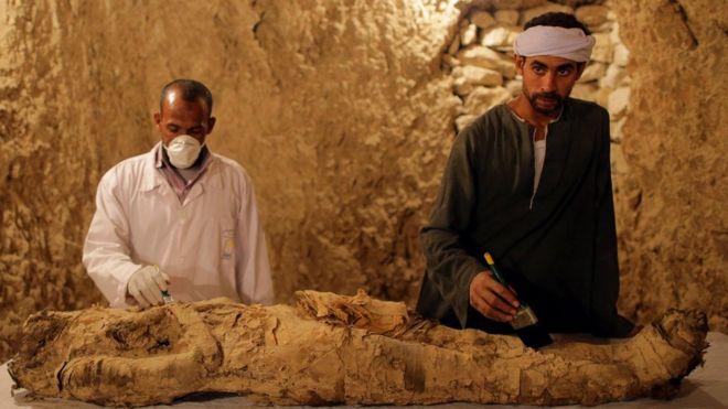 Показана мумия древнего чиновника
