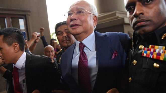 Malaysia's ex-PM Najib charged with corruption over 1MDB - BBC News