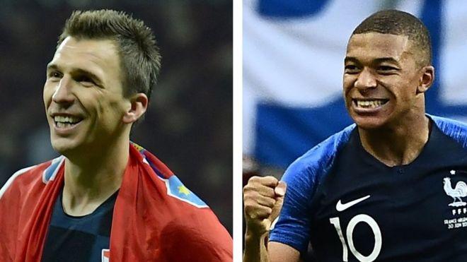 Mario Mandzukic oo u dheela Croatia iyo Kylian Mbappe oo u cayaaro xulka Faransiiska