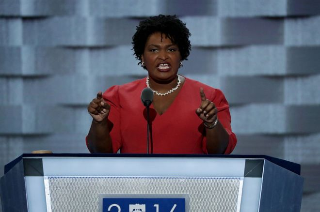 stacey abrams is first black female nominee for governor bbc news