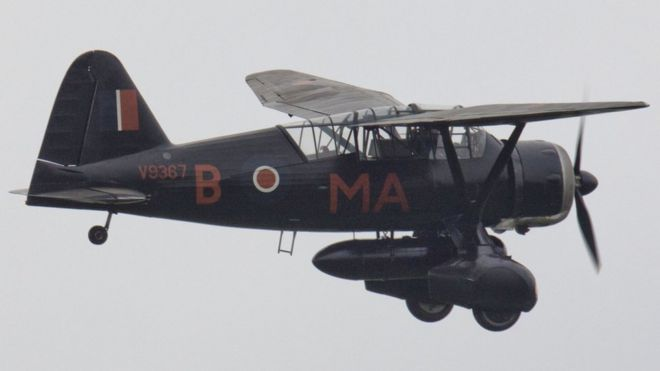 """Британский военно-транспортный и разведывательный самолет Второй мировой войны """"Лисандр"""""""