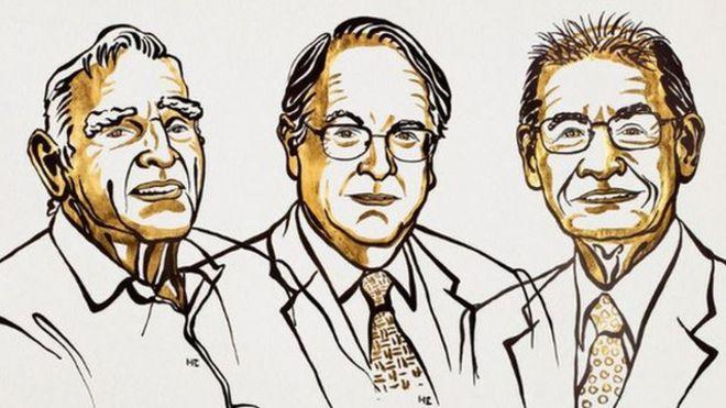 John B. Goodenough, Akira Yoshino y Stanley Whittingham