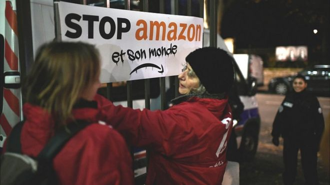 Amazon hit by Black Friday walkouts and protests in Europe