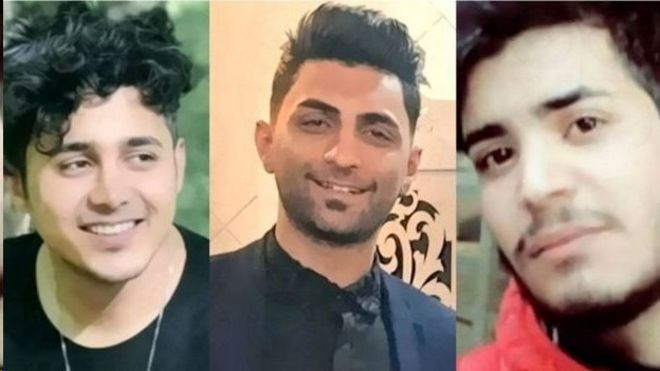 امیرحسین مرادی، سعید تمجیدی و محمد رجبی هر سه از دستگیرشدگان اعتراضات آبان ماه ۱۳۹۸ هستند.