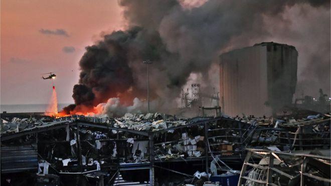 تضامن عربي وعالمي ف انفجار بيروت ورئيس وزراء لبنان يقول إن ما حصل