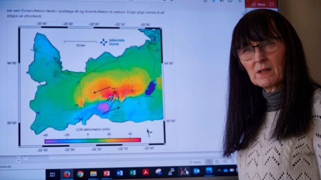 Kristin Vogfjord, directora de geociencia de la Oficina Meteorológica de Islandia