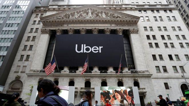 Salida a bolsa de Uber el 10 de mayo de 2019.