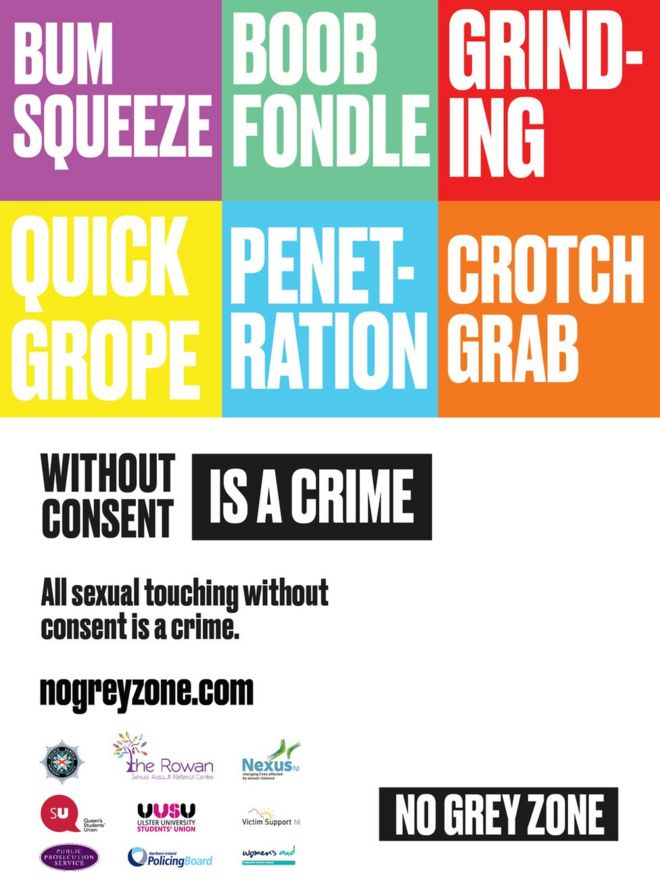 sexual consent campaign launched by psni bbc news