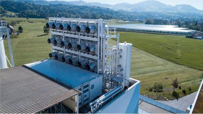 La máquina suiza que puede absorber CO2 de la atmósfera y transformarlo en un producto útil