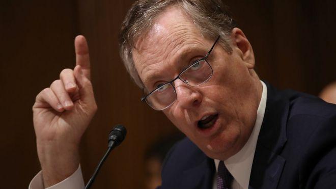 美国财政部长姆努钦率领的代表团扔出中国最不愿接受的条件