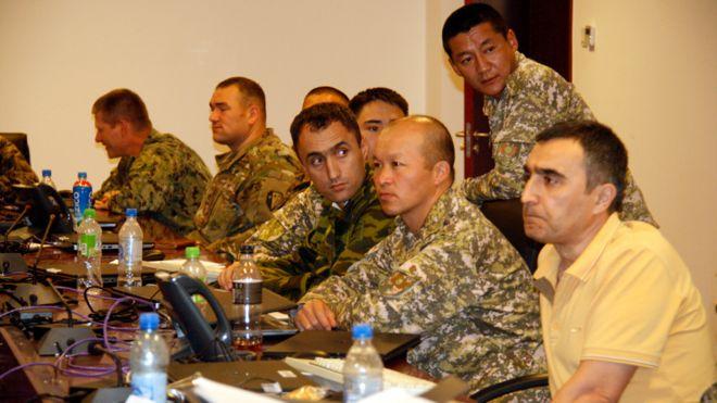 تمرینات نظامی چهار کشور منطقه و آمریکا در تاجیکستان