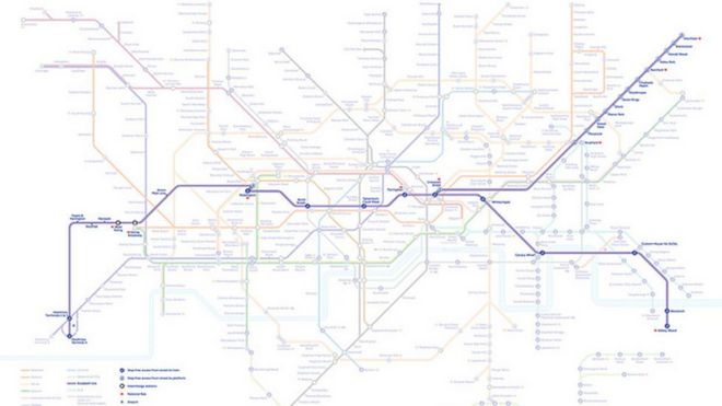 London Line Map.London Tube Map With Elizabeth Line Revealed Bbc News