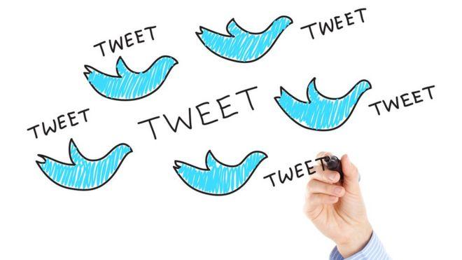 Ilustración de pájaro de Twitter