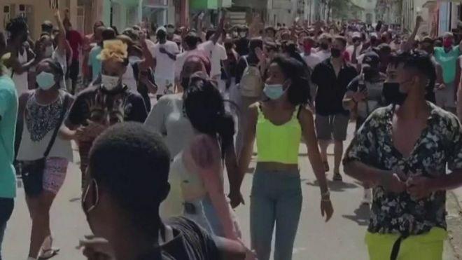Cuba protest