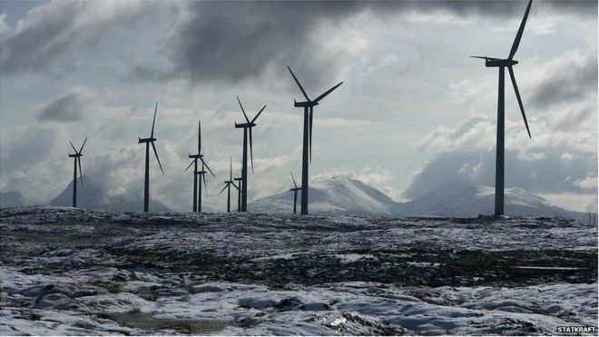 Turbines at the Smola windfarm, Norway (Image: Statkraft)