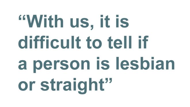 Quotebox: with us it is difficult to tell if a person is lesbian or straight