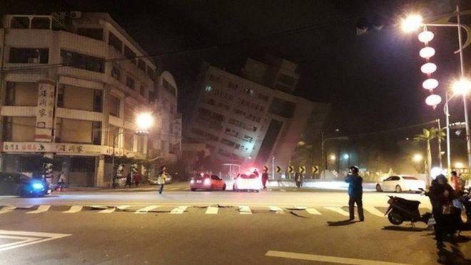 زلزله قوی در تایوان؛ ساختمانهای بلند مرتبه فروریختند