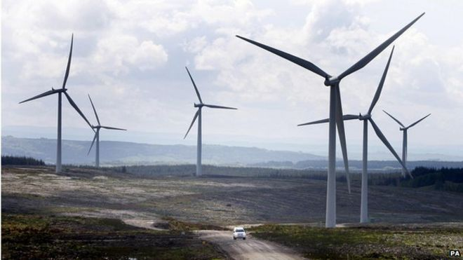 Wind farm in Scotland