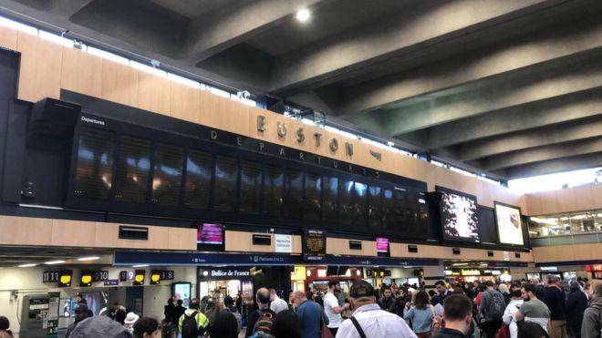 London Euston disruption caused by trespasser BBC News