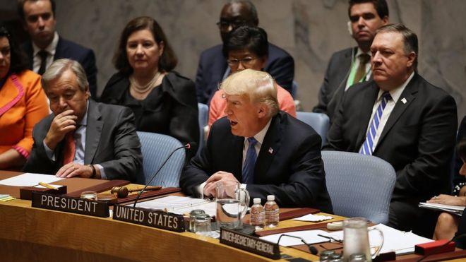 Trump'ın BM Güvenlik Konseyi'ndeki konuşması