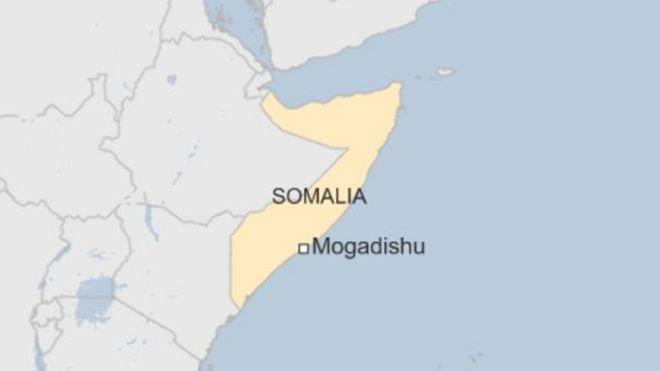 Ramani ya taifa la Somalia ambapo wafanyikazi 4 wa shirika la afya duniani WHO wametekwa nyara